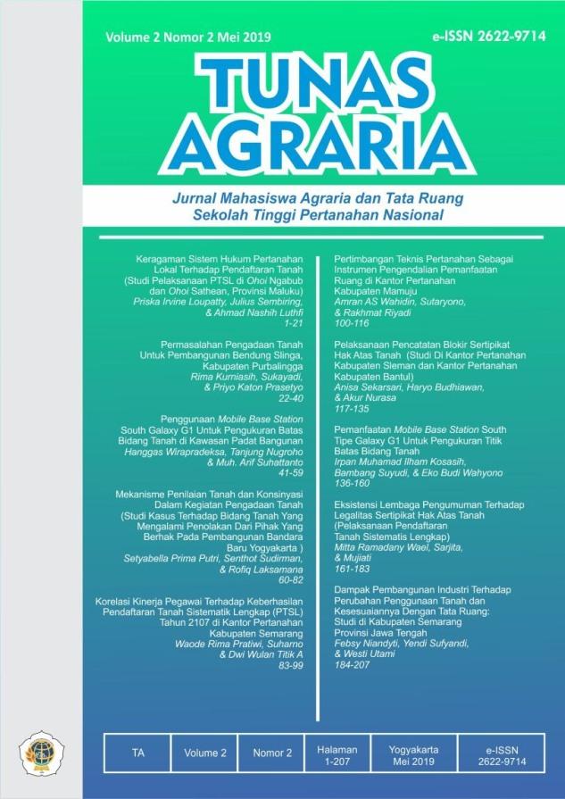 View Vol. 2 No. 2 (2019): Mei-Tunas Agraria
