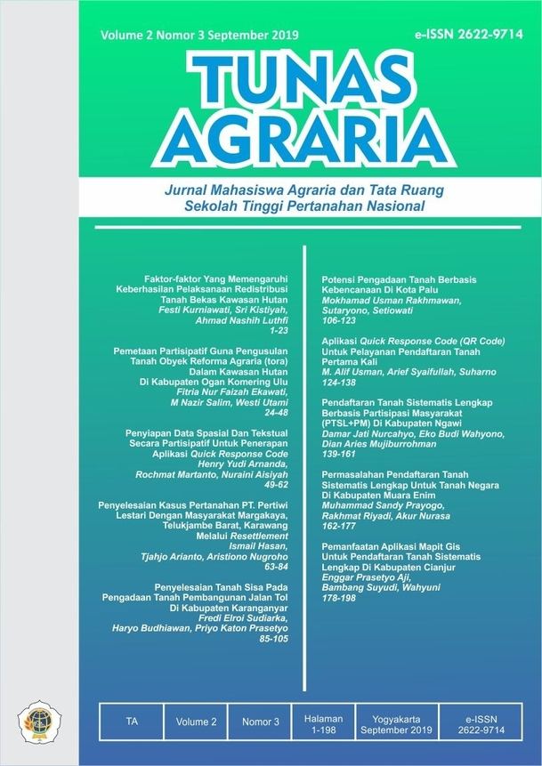 View Vol. 2 No. 3 (2019):  Sep-Tunas Agraria